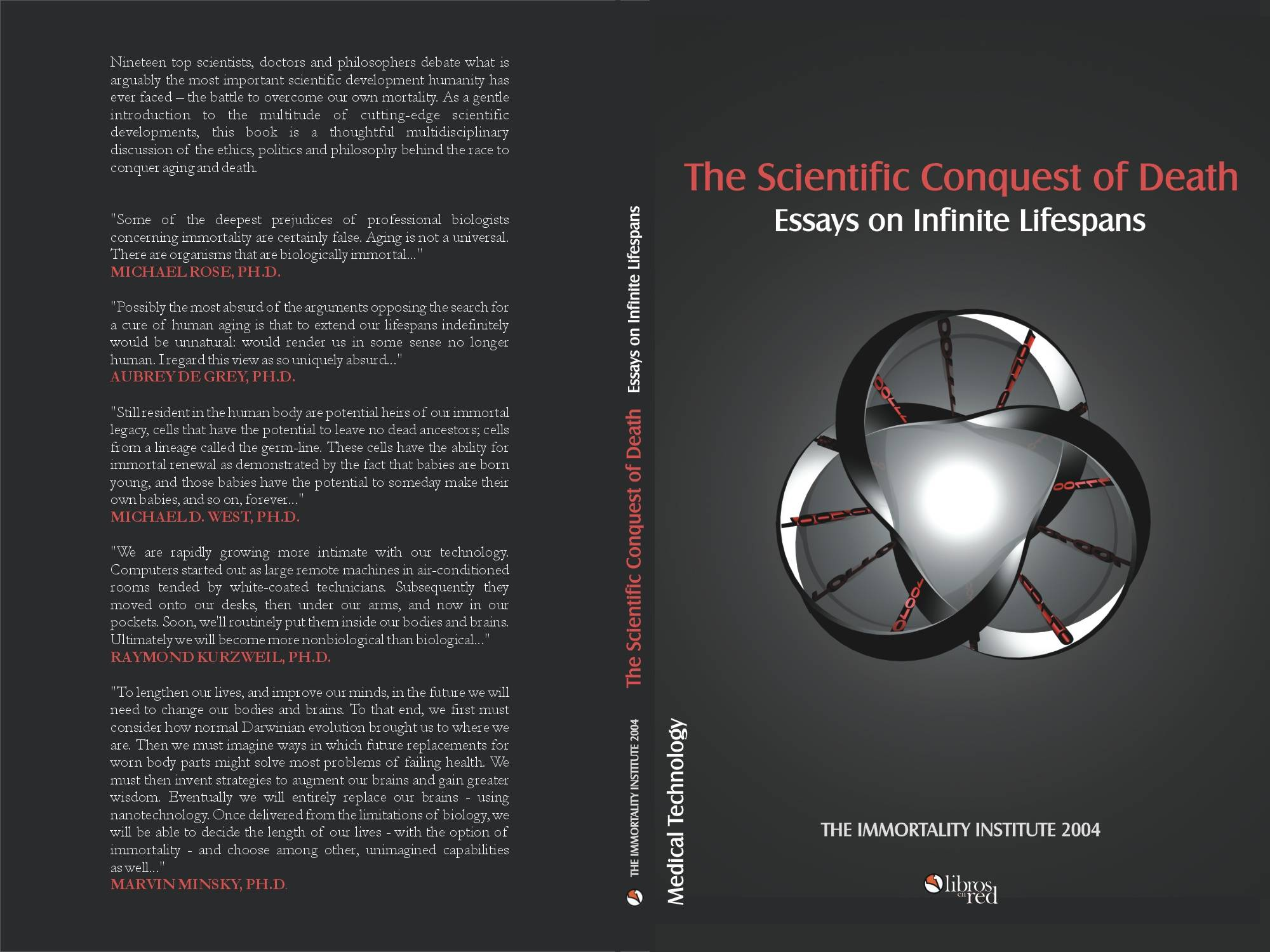 book org immortality institute click to see complete book cover the scientific conquest of death